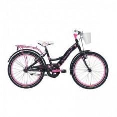 Bicicleta Adriatica Girl 20 negru/roz - Bicicleta copii