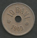 ROMANIA  10  BANI  1905  [10]  livrare in cartonas, Cupru-Nichel