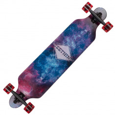 Longboard Land Surfer® II ABEC-7, PU, Aluminiu, 100kg Galaxy - Skateboard, Marime: 23