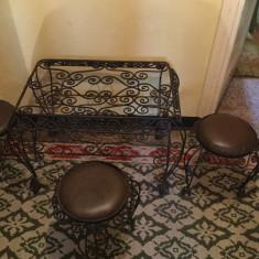 Masa cu tabureti vintage - Masa gradina