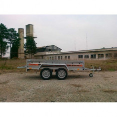 Remorca 750 kg Agro basculabil-punte tandem 233x132cm, 6 RATE Fara Dobanda, cu RAR - Utilitare auto