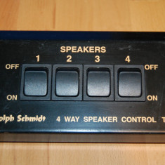 Control boxe switch-RUDOLPH  SCHMIDT 4 way speaker control TC-5