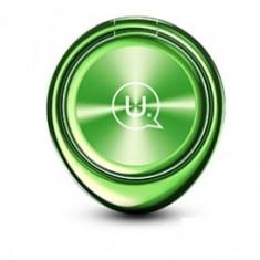 Suport inel universal Usams ZJ024 Magnetic Finger verde Blister Original - Inel telefon