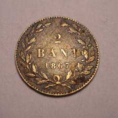 2 bani 1867 Watt - Moneda Romania