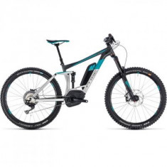 BICICLETA CUBE STEREO HYBRID 160 RACE 500 27.5 Metal Grey 2018 - Mountain Bike