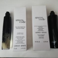Armani Black Code Parfum TESTER original 100ml EDT, 125 ml, Apa de toaleta