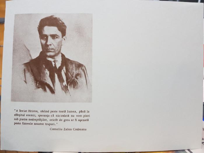 CARTE POSTALA LEGIONARA NECIRCULATA 10/14CM CORNELIU CODREANU MISCAREA LEGIONARA