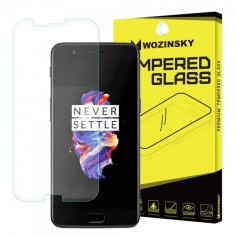 Folie Protectie ecran antisoc OnePlus 5 WZK Tempered Glass Blister Originala - Folie de protectie, Sticla