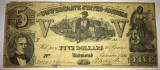 5 dollars - confederate states of america