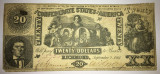 20 dollars - confederate states of america