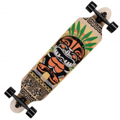 Longboard Land Surfer® II ABEC-7, PU, Aluminiu, 100kg Tiki Mask - Skateboard, Marime: 23