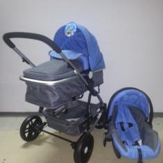 Carucior 3 in 1 Baby Care nou in cutie sigilat cod YK 18-19 - Carucior copii 3 in 1 Baby Care, Albastru