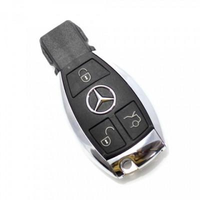 Carcasa Cheie SmartKey Mercedes 3 Butoane Model Cromat 2011 foto