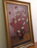 """V. Stuparu """"Vas cu flori"""", ulei pe panza. Superba pictura!, Avangardism"""