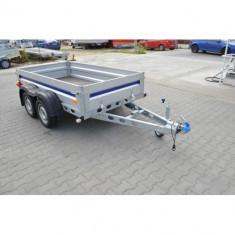 Remorca 750 kg punte tandem 252x132x38 cm, RAR efectuat, 6 RATE Fara Dobanda - Utilitare auto