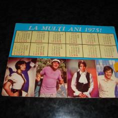 Carte postala - Calendar actori 1975