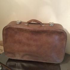 Geamantan piele vechi - Geanta vintage