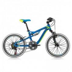 Bicicleta Shockblaze Warrior 20 FSP albastru verde 2016 - Bicicleta copii
