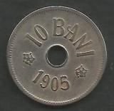 ROMANIA  10  BANI  1905  [5]  livrare in cartonas, Cupru-Nichel