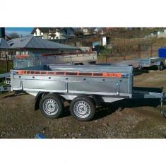 Remorca auto 750kg Boro BH punte tandem 300X150cm, 6 RATE Fara Dobanda, cu RAR - Utilitare auto