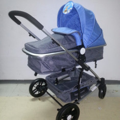 Carucior 2 in 1 Baby Care nou in cutie sigilat YK 18 - Carucior copii 2 in 1 Baby Care, Albastru