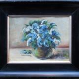 Vaza cu flori (1) - semnat Eremia Profeta 1964 - Pictor roman, Natura statica, Ulei, Altul
