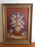 """Silvia Arsene-""""Vas cu flori""""/Deosebit Tablou/ Pictura in ulei, Avangardism"""