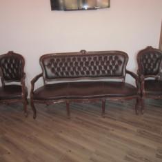 Canapea 3 locuri cu 2 fotolii, Scaune, 1900 - 1949