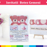 Invitatii Botez Gemeni - Bebelusii Veseli 4