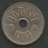 ROMANIA  10  BANI  1905  [16]  livrare in cartonas, Cupru-Nichel