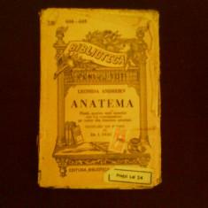 Leonid Andreev Anatema, piesa de teatru, carte veche - Carte Teatru