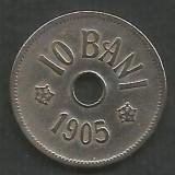ROMANIA  10  BANI  1905  [11]  livrare in cartonas, Cupru-Nichel