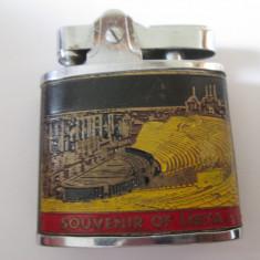 Rara! Bricheta japoneza colectie Empire Automatic din anii 60-Souvenir din Libya - Bricheta de colectie, Cu benzina