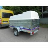 Remorca carosata cu capac 750kg 244x126x118cm, RAR Efectuat, 6 Rate Fara Dobanda