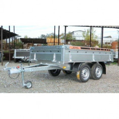 Remorca auto 750 kg punte tandem 250x150 cm, RAR efectuat, 6 RATE Fara Dobanda - Utilitare auto