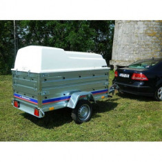 Remorca carosata 750kg 204x115x118cm-sistem franare, 6 Rate Fara Dobanda, cu RAR - Utilitare auto