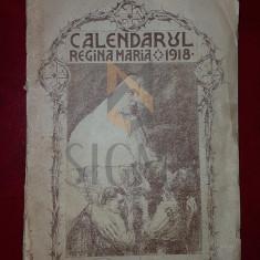 CALENDARUL REGINA MARIA, 1918