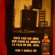 Ilustrata Reclama Whisky Jack Daniels - Reclama Tiparita