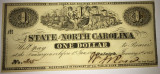 One dollar - the state of north carolina