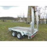 Remorca auto transport utilaje 2700kg 305x155cm,RAR Efectuat,6 Rate Fara Dobanda