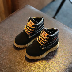 Bocanci imblaniti negri ghete iarna pantofi baieti fete COMFY 26 27, Unisex, Din imagine