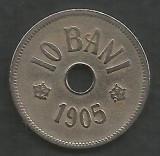 ROMANIA  10  BANI  1905  [6]  livrare in cartonas, Cupru-Nichel