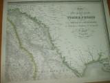 Moldova Basarabia Valahia Bulgaria Rumelia Turcia harta F. Fried Viena 1829