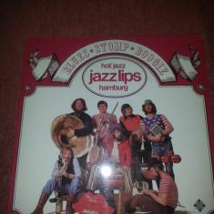 Hot Jazz-Jazz Lips Hamburg 2LP-Blues-Stomp-Boogie vinil Telefunken 1973 Ger - Muzica Jazz