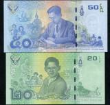 Bancnota Thailanda 20 si 50 Baht 2017 - PNew UNC ( set x2 - comemorative )