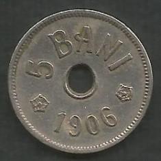 ROMANIA 5 BANI 1906, litera J - Monetaria Hamburg [18] livrare in cartonas - Moneda Romania, Cupru-Nichel