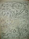 Transivania Moldova Rusia Venetia 1692 V. M. Coronelli harta alb - negru