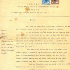 Z95 DOCUMENT VECHI -EXTRACT DIN REGISTRUL ACTELOR DE NASTERE PE ANUL 1905-LEONTE - Hartie cu Antet