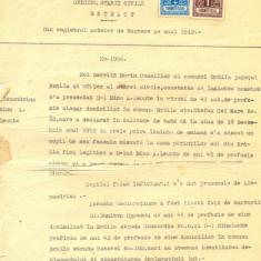 Z94 DOCUMENT VECHI -EXTRACT DIN REGISTRUL ACTELOR DE NASTERE PE ANUL 1912-LEONTE - Hartie cu Antet