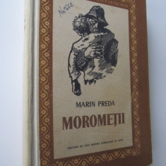 Morometii, 1957 - coperta ilustr. Perahim ( editia II-a) - Marin Preda - Roman